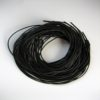 Schwarzes Ziegenrundlederhalsband 100 cm lang