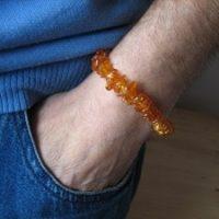 Edelstein Armband aus Bersteinsplitter, ca. 18-19 cm lang