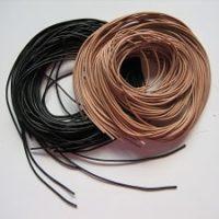 Ziegenrundlederband 100 cm, schwarz und hellbraun