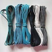 Baumwollbänder gewachst, verschiedene Farben, 2,0 mm,