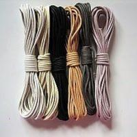 Baumwollbänder gewachst, Inspiration, 2,0 mm, versch. Farben, Schmuckzubehör