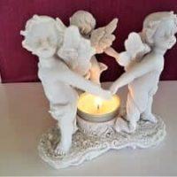 Teelichthalter, Duftlampe mit drei Engel, inkl. Teelicht