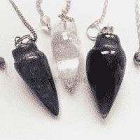 Pendel Edelsteinsorte Amethyst, Bergkristall, Lapislazuli an Kette