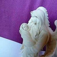 Engelfigur mit Baby im Arm, AngelStar