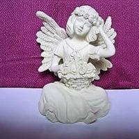 Engel sitzend mit Blumenkorb, 9,5 cm, AngelStar