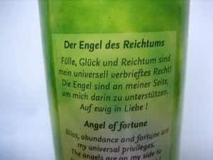 Medi - Kerzen mit Engel der Zukunft des Reichtums, Affirmation, Spruch