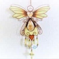 Windspiel Schmetterling mit leuchtenden Flügeln, ca. 1,00 m, heller Klang