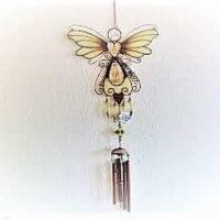 Windspiel Schmetterling, leuchtet im Dunkeln, ca. 1,0 m lang