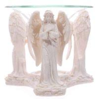Duftlampe mit betenden Engelfiguren weiß, ca. 10 cm hoch