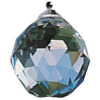 Bergkristall facetiert, 20 mm, leuchet in Regebogenfarben