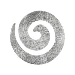 Spirale, Kettenanhänger, 925 Silber matt, 20 mm
