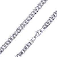 Silberkette 925 Ankerkette mit Karabiner, 3mm, 45 cm lang, Halskette