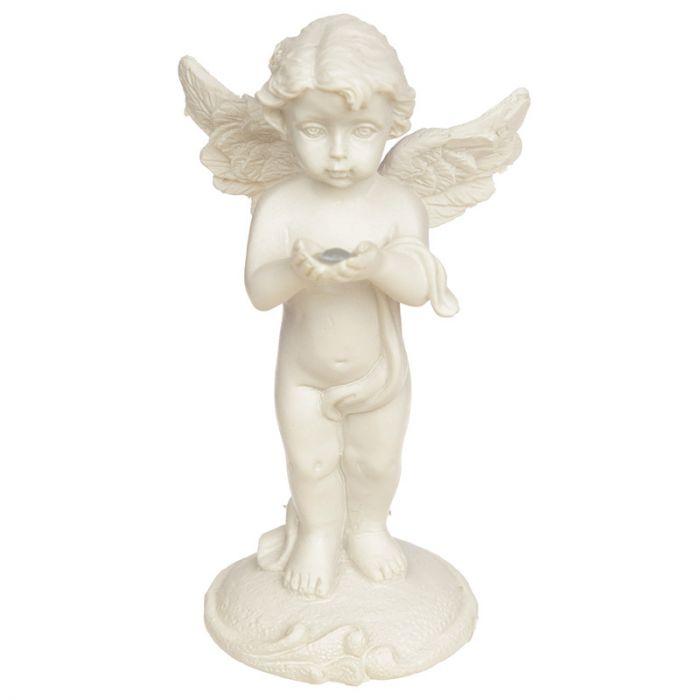 Engelchen stehend mit Diamant hell, 8,5 cm hoch