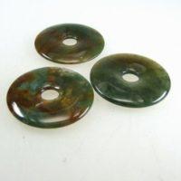 Donut Moosachat 50 mm, Heilstein, Mineral-Edelstein,