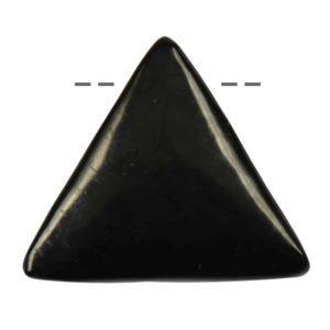 Schungit Dreieck Anhänger gebohrt, 3x3x3 cm Mineral-Edelstein, Schutzstein, Glücksbringer Schmuck