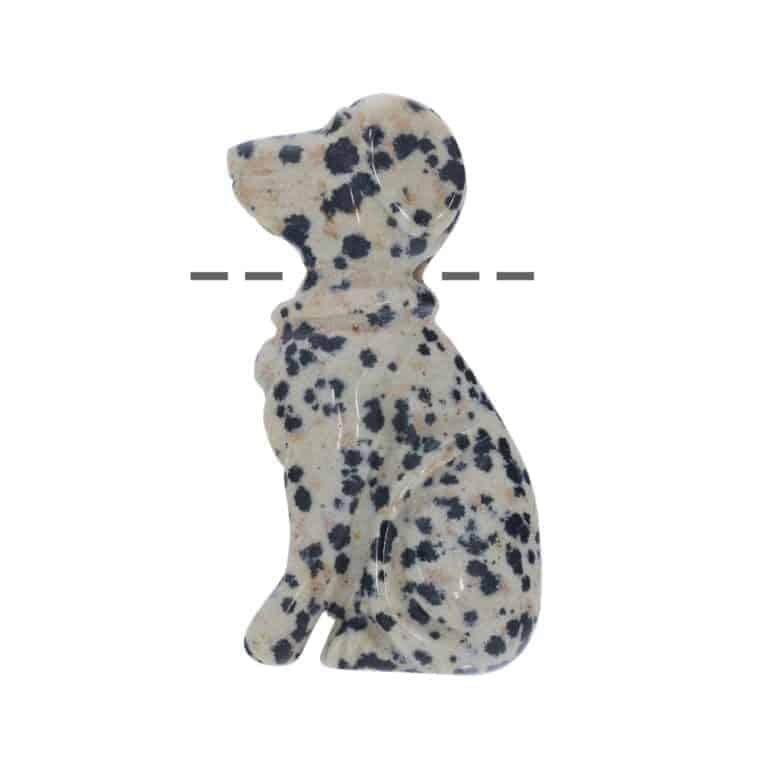 Hund Dalmatiner-Jaspis 3cm gebohrt, Kettenanhänger, Schmuck, Tierformen