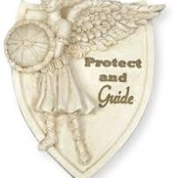 Erzengel Michael als Clip Autosonnenblende, Protect und Guide 6,5 cm hoch
