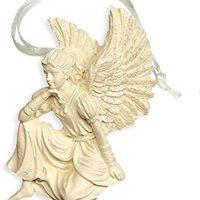 Engelfigur zum Aufhängen, Weihnachtsbaumschmuck, Wandbehang, thoughtfulness