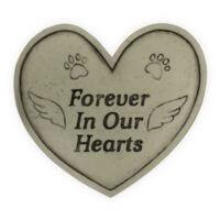 Grabstein Gedenkstein für Tiere Forever in our hearts, Herzform, 20x23 cm groß