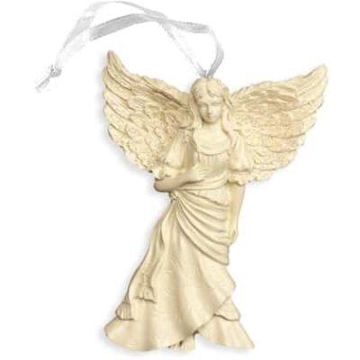 Engelfigur der Hoffnung zum Aufhängen 6,4x9,5 cm im Organzabeutel Weihnachtsbaumschmuck, Wandbehang