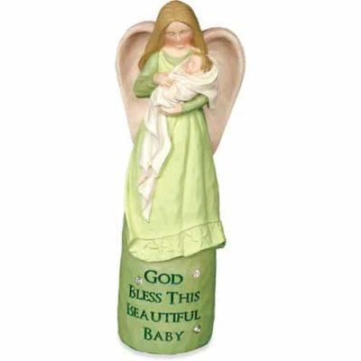 Engelfigur mit Baby God Bless AngelStar 14,6 cm hoch Schutzengel