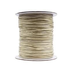 Halsband Baumwolle gewachst 1mm beige