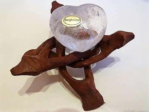 Bergkristall Herz bauchig 40-45mm, Edelstein ohne Deko