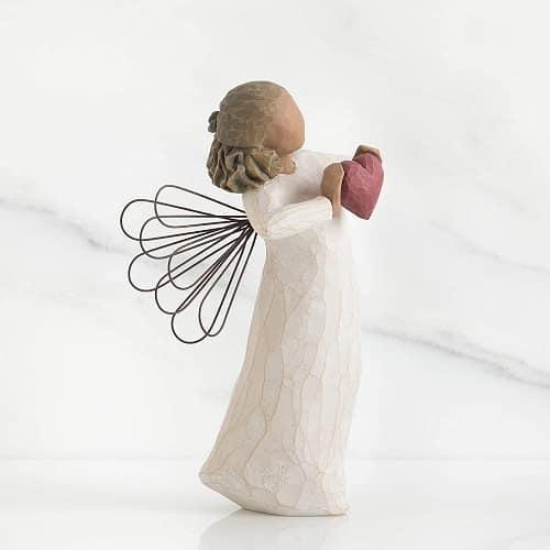 Willow Tree Engelfigur with love mit rotem Herz in Geschenkbox mit Kärtchen