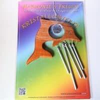 Klangspiel Delfin mit Kristallkugel Regenbogenfarben