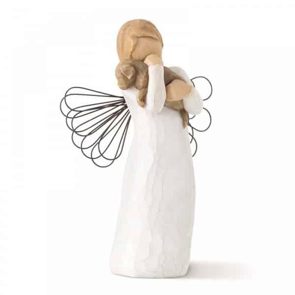 Engel mit Hund Willow Tree Susan Lordi Friendship, 13,0 cm hoch, Schutzpatron der Tiere