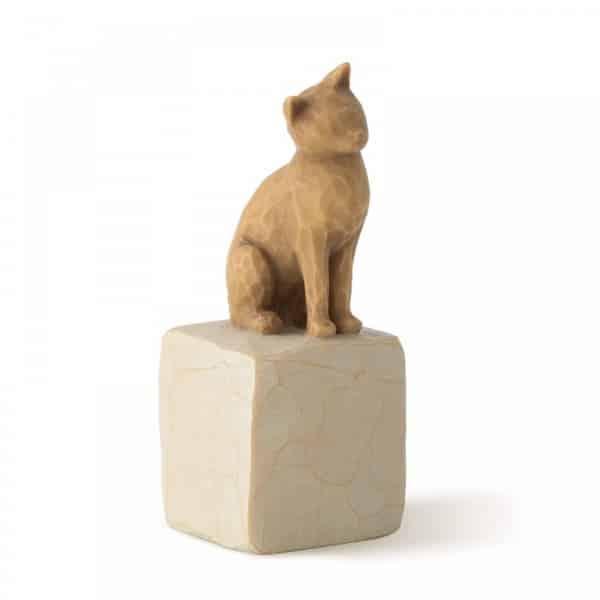 Katze auf Stein der Marke Willow Tree, Susan Lordi, 7,5 cm hoch