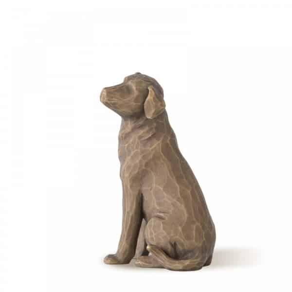 Hund Tierfigur Willow Tree 8,5 cm groß, dunkel, Love my dog