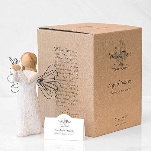 Engelfigur der Freiheit Willow Tree angel of freedom in Geschenkbox mit Kärtchen