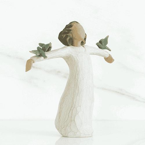 Willow Tree Happyness Mädchen der Freude Vögel, 14 cm, in Box mit Kärtchen