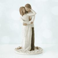 Willow Tree Figur Hochzeitspaar Liebespaar auf Platte Lebensmittelecht, 15 cm, Hochzeitskuchenspitze
