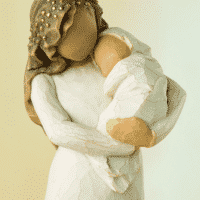 Willow Tree Figur Mutter und Baby von Susan Lordi 'Sanctuary' 17 cm, in Geschenkbox mit Kärtchen und Spruch