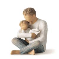 Willow Tree Familienfigur Vater mit Kleinkind von Susan Lordi little one 10 cm in Geschenkbox mit