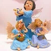 Engelfiguren handbemalt (Showartikel)