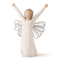 Willow Tree Engel Courage des Mutes, Engelfigur mit erhobenen Armen, 14,5 cm x11x6,5 cm