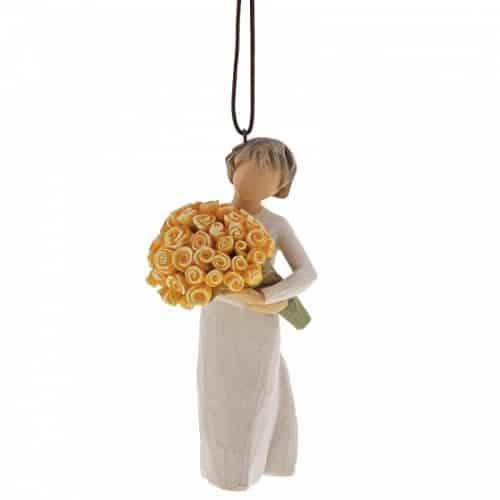 Willow Tree Figur Glückwünsche mit sonnigen Rosen, Ornament zum Aufhängen