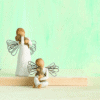 Angebot Willow Tree Engel Figuren-Set Friendship und Comfort, Schutzengel für Tiere, Susan Lordi