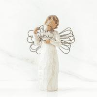Willow Tree Engelfigur des Dankes von Susan Lordi 'just for you' 14 cm hoch in Geschenkbox mit Kärtchen und Spruch