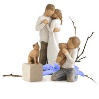 Familien-3er-Set mit Katze und Hund von Susan Lordi Pomise, kindness in Geschenkbox mit Kärtchen und Spruch
