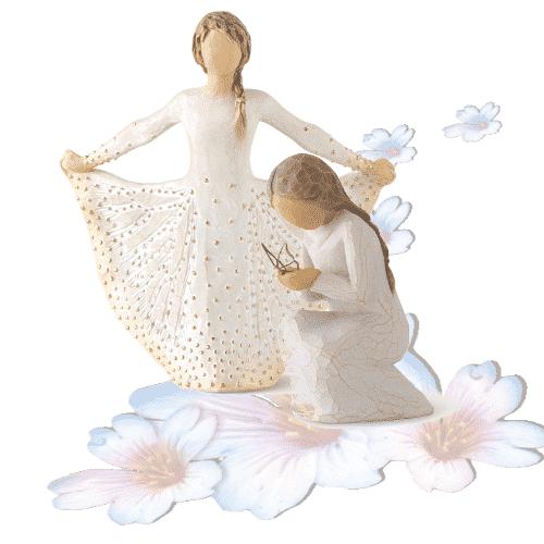 Willow Tree Figuren-Gruppe Mut zum Fliegen, 9,5 - 17 cm, von Susan Lordi in Geschenkbox mit blanco Kärtchen und Spruch