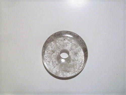 Donut Bergkristall 40mm, Edelstein, Schmuck, Heilstein