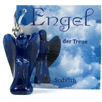 Engel mit Kärtchen Sodalith Anhänger, Schmuck Edelstein