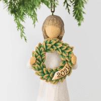 Willow Tree Figur Dating Ornament - zum Stehen und Hängen, 11x4,5x4 cm
