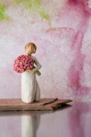 Willow Tree Figur Abundance - Viel Liebe mit Rosen, 14x6,5x6,5 cm