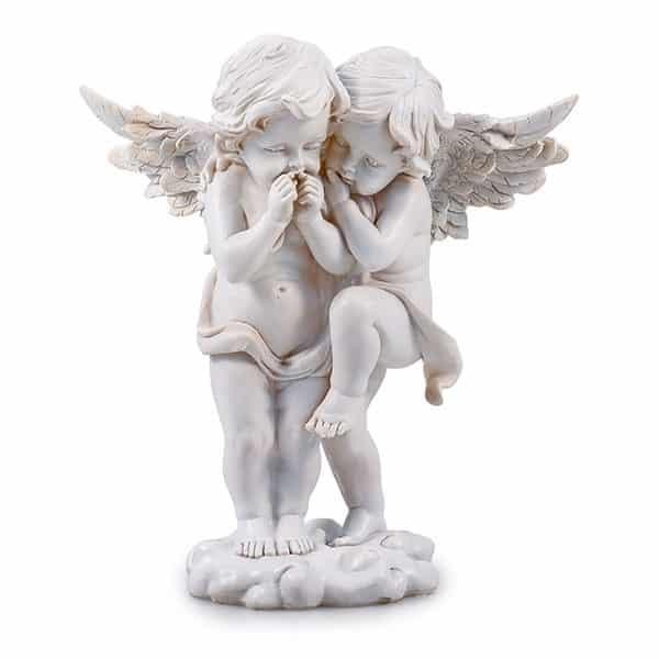 Engelpärchen Genesis aus Polyresin, 26 cm