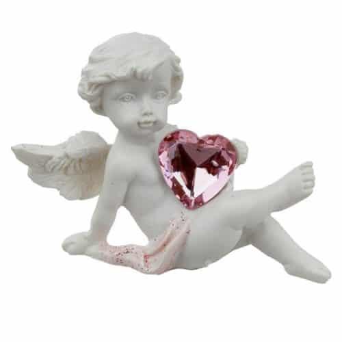 Engelchen 2 sitzend mit Herz
